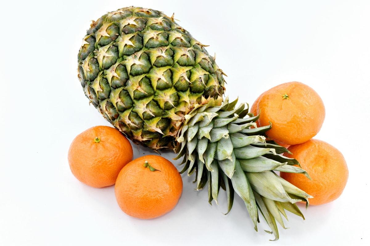 mandarin, pineapple, tropic, vegan, food, tangerine, fruit, vitamin, citrus, produce