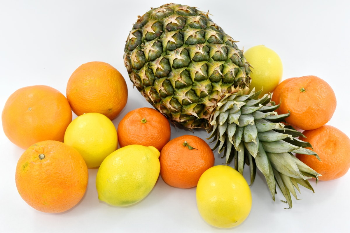 citrus, fresh, mandarin, oranges, organic, pineapple, produce, fruit, lemon, vitamin