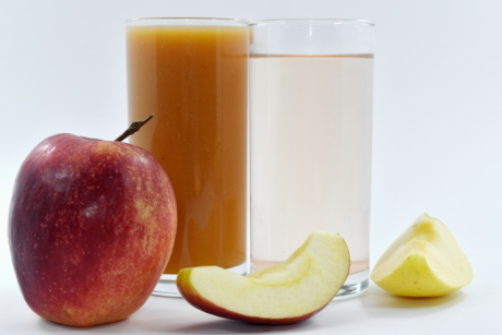 apples, beverage, breakfast, drinking water, fruit juice, slice, vitamin, fresh, juice, food