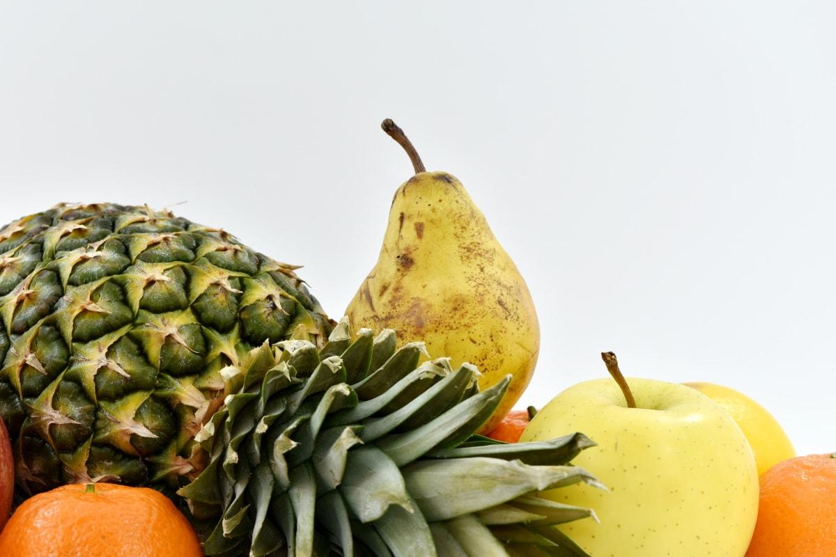 pear, fruit, pineapple, food, produce, fresh, apple, still life, nature, health