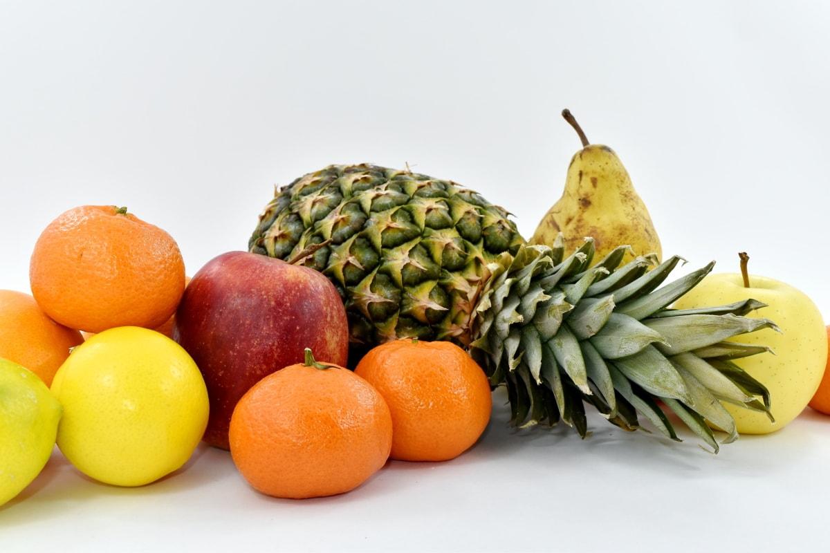apple, fruit, grapefruit, oranges, pineapple, citrus, still life, food, orange, banana