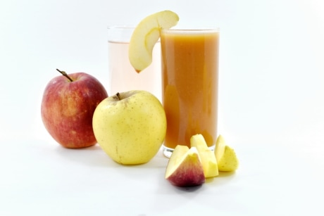 apples, beverage, drink, food, fruit cocktail, fruit juice, juice, organic, slices, apple