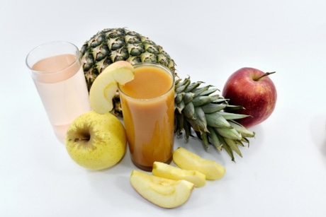 apples, cocktails, pineapple, slices, syrup, apple, food, drink, diet, breakfast