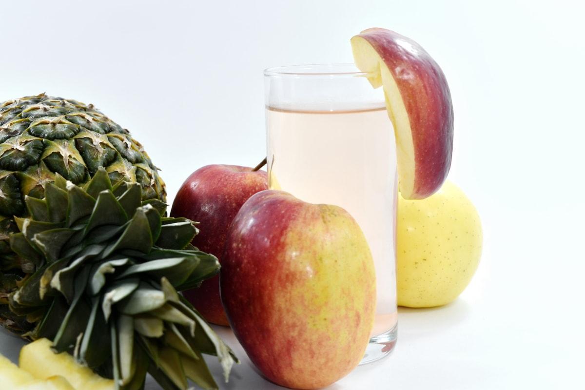 apple, beverage, breakfast, fruit juice, healthy, meal, organic, pineapple, vitamin, diet