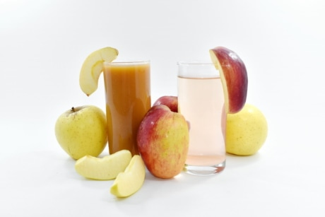 apples, breakfast, healthy, liquid, slices, syrup, vegetarian, fruit, food, vitamin