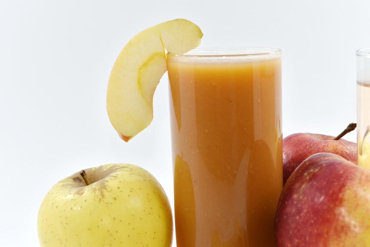 jabłka, napoje, śniadanie, koktajl owoców, sok owocowy, syrop, wegańskie, diety, pyszne, świeży