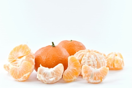delicious, fresh, mandarin, slices, vegan, fruit, healthy, vitamin, citrus, tropical