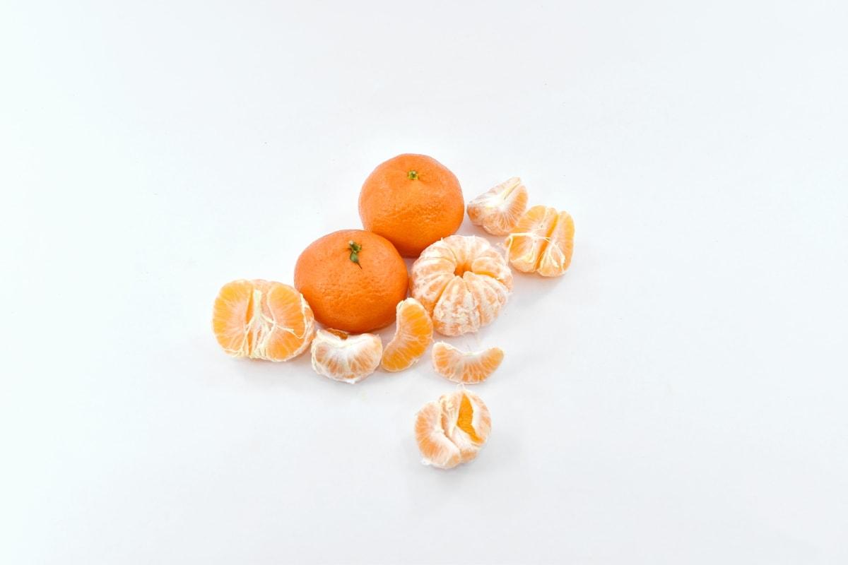fresh, fruit, mandarin, oranges, slices, vegan, healthy, orange, vitamin, citrus