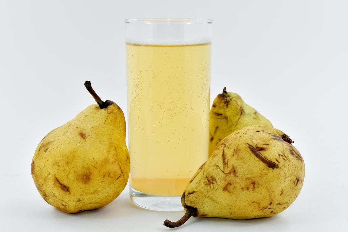 beverage, fruit juice, juice, organic, pear, yellowish, yellowish brown, fruit, food, nutrition
