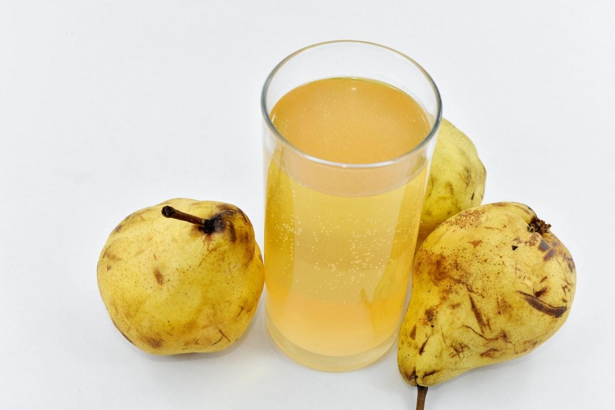 beverage, drink, fruit juice, glass, pear, liquid, juice, food, still life, fruit