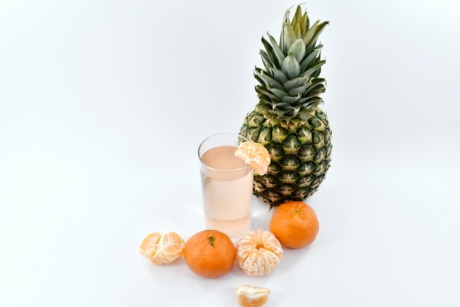 beverage, fruit cocktail, fruit juice, mandarin, pineapple, food, tropical, produce, sweet, fruit