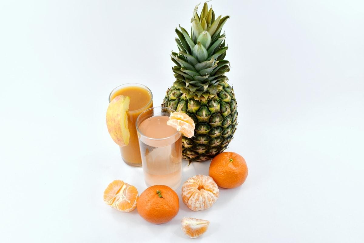 delicious, fresh water, fruit juice, mandarin, pineapple, syrup, vitamin, food, produce, fruit