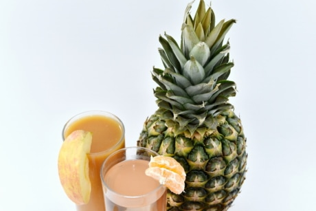 apple, dietary, dietary supplement, lemonade, pineapple, syrup, produce, tropical, fruit, food