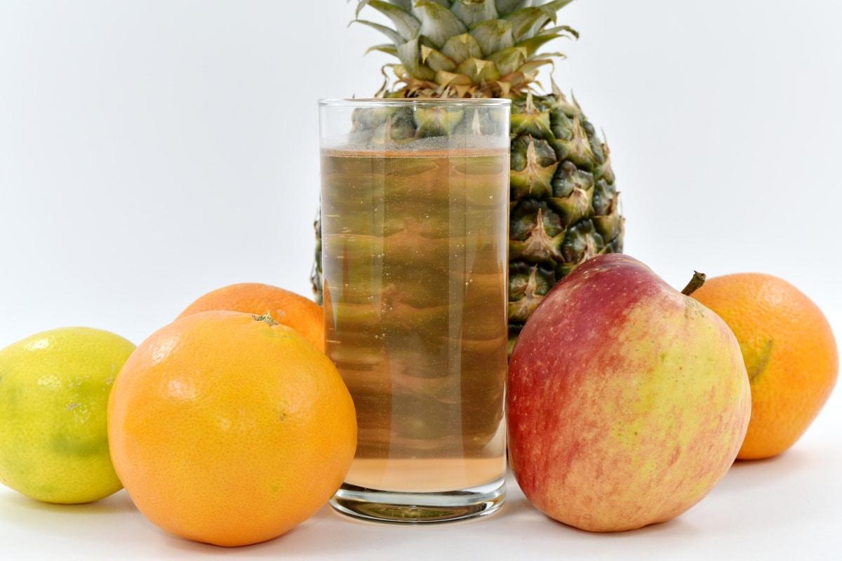 apple, exotic, fruit juice, pineapple, tropical, citrus, food, fruit, produce, lemon