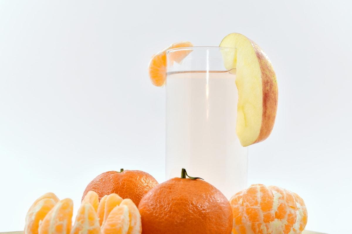 apple, beverage, fresh water, fruit juice, mandarin, orange, citrus, tangerine, tropical, juice