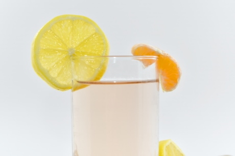 beverage, decoration, dietary, drinking water, fresh water, lemon, lemonade, mandarin, slices, vegetarian