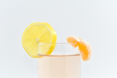 beverage, drinking straw, fresh water, lemon, lemonade, slices, orange, cold, fruit, juice