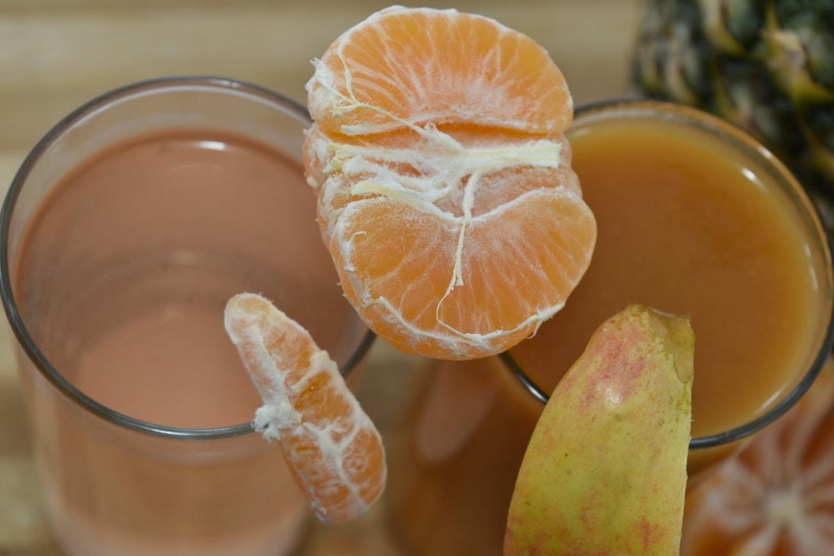 apple, breakfast, mandarin, slices, syrup, vegan, orange, citrus, healthy, fruit