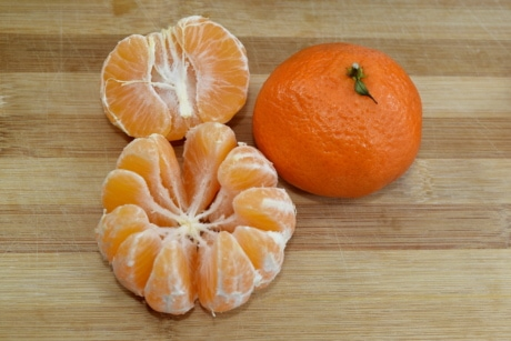 fresh, fruit, half, mandarin, slices, tangerine, whole, citrus, vitamin, orange