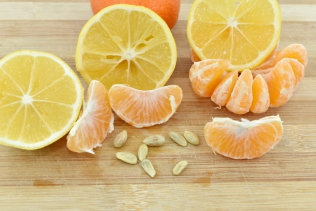 lemon, mandarin, seed, slices, food, fresh, vitamin, fruit, orange, citrus