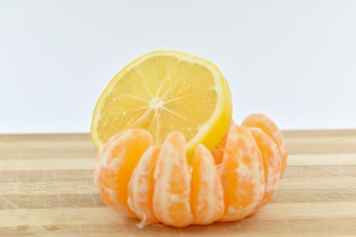 lemon, slice, tangerine, juice, sweet, orange, healthy, mandarin, citrus, fruit