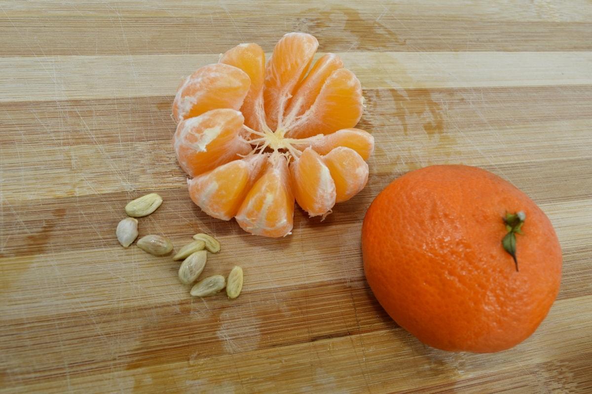 mandarin, oranges, seed, slices, fruit, citrus, orange, wood, tangerine, food