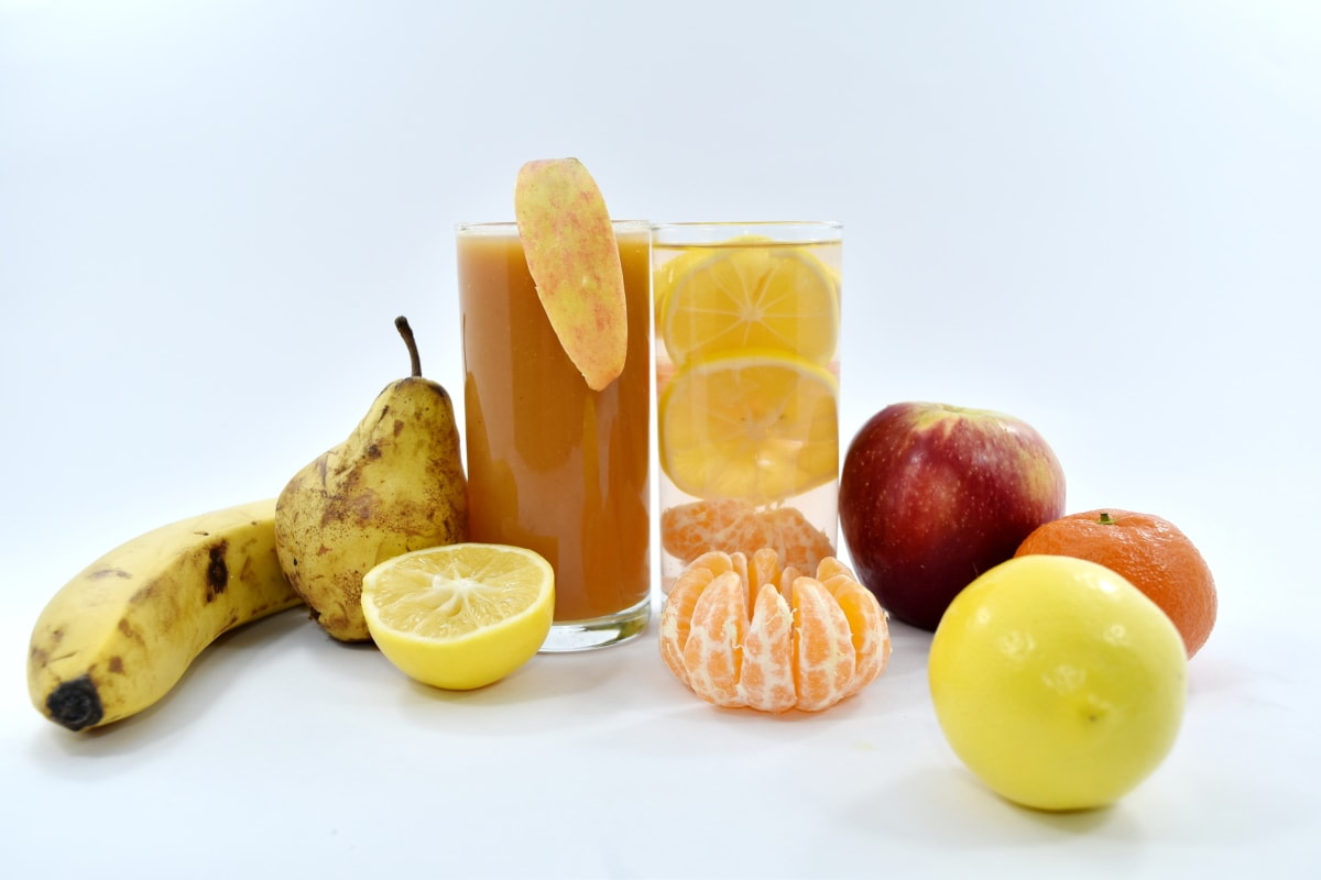 beverage, cocktails, fruit juice, pear, syrup, orange, citrus, food, fruit, diet