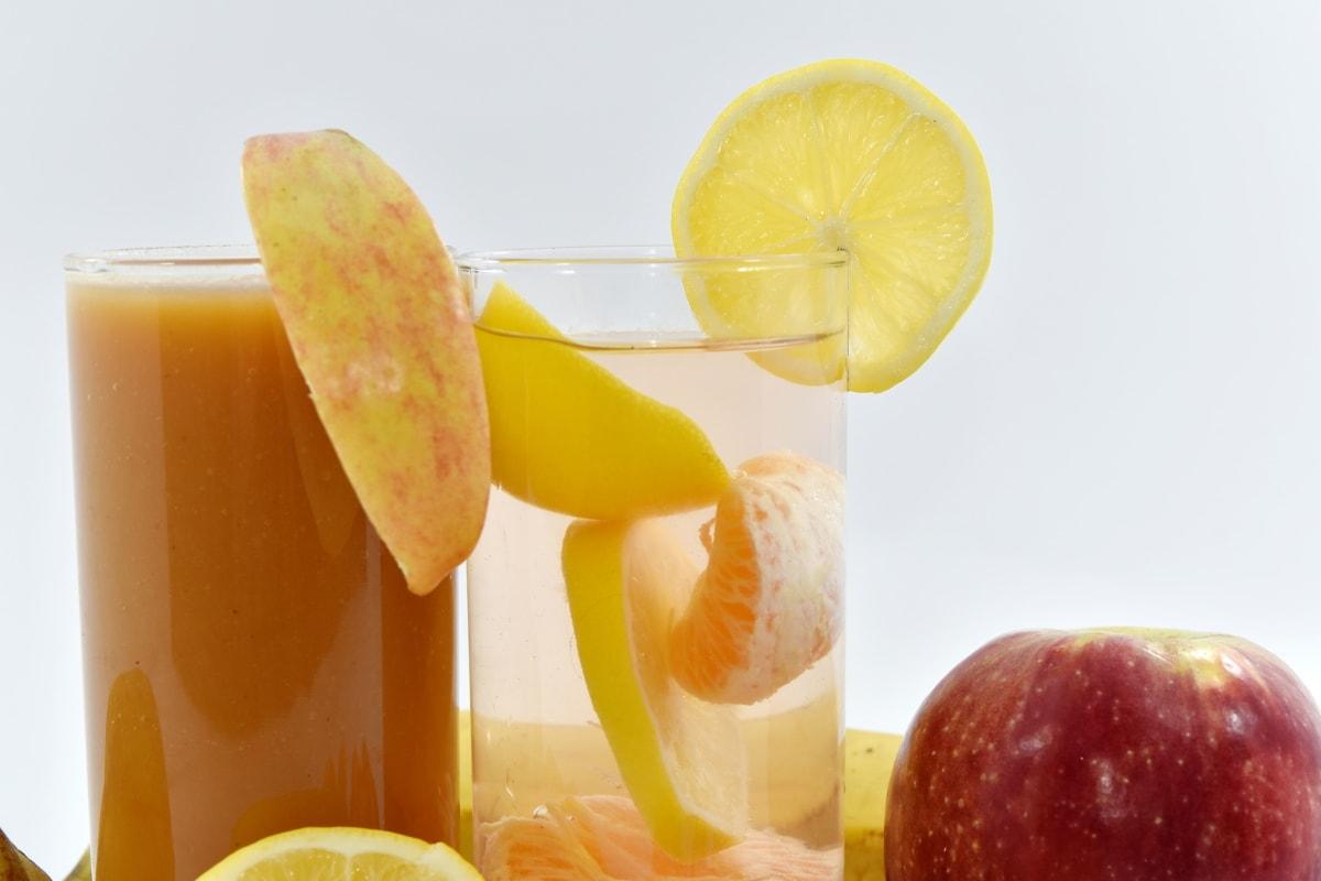 jabłko, napoje, cytryna, Lemoniada, syrop, wegańskie, wegetariańskie, sok, świeży, witaminy