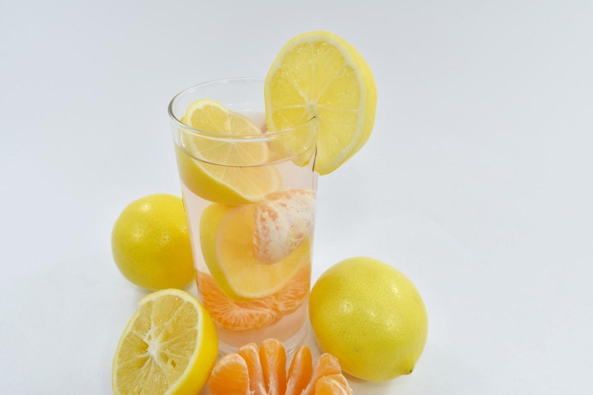 fruit cocktail, fruit juice, slices, lemonade, tropical, juice, fruit, food, lemon, citrus