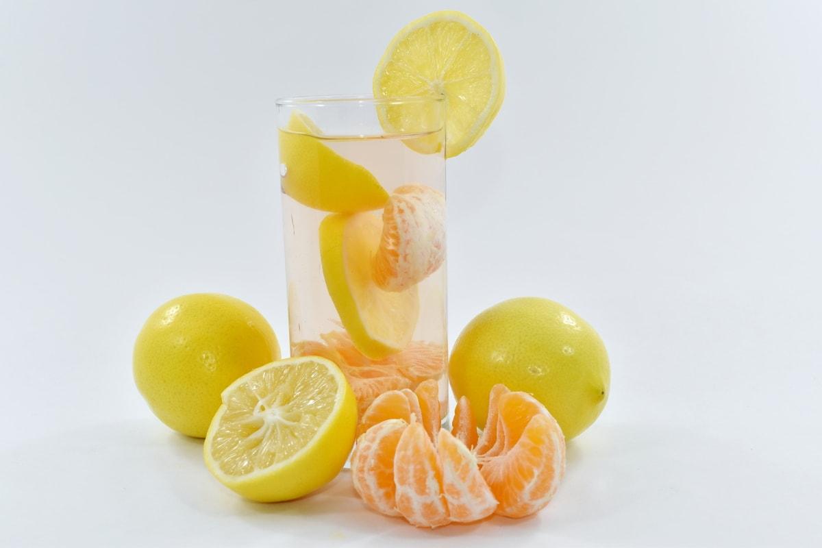 calorie, citrus, fresh, healthy, lemon, lemonade, organic, slices, vegan, orange