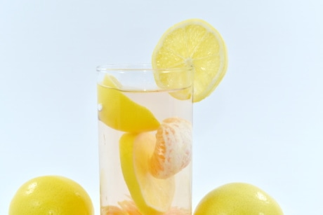 beverage, citrus, lemon, lemonade, liquid, mandarin, vitamin, juice, food, fruit