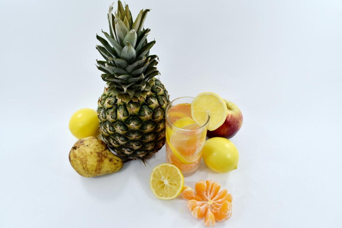 breakfast, citrus, fruit cocktail, fruit juice, lemonade, pineapple, tropical, produce, food, fresh
