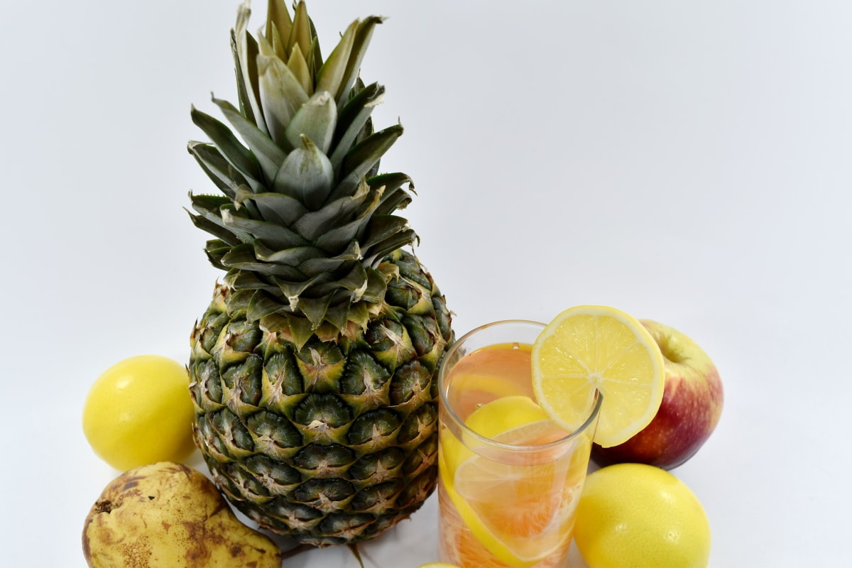 lemonade, mandarin, pear, pineapple, tropical, food, fruit, produce, juice, healthy