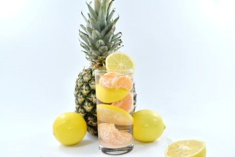 grapefruit, lemon, lemonade, pineapple, tangerine, citrus, produce, juice, vitamin, fruit
