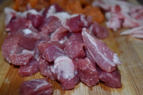 fat, nutrition, pork, raw meat, stew meat, food, meat, bacon, beef, ham