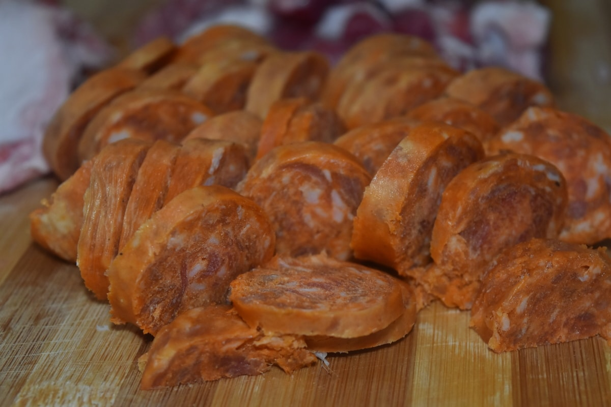 close-up, delicious, meat, nutrition, pork, raw meat, sausage, food, homemade, traditional