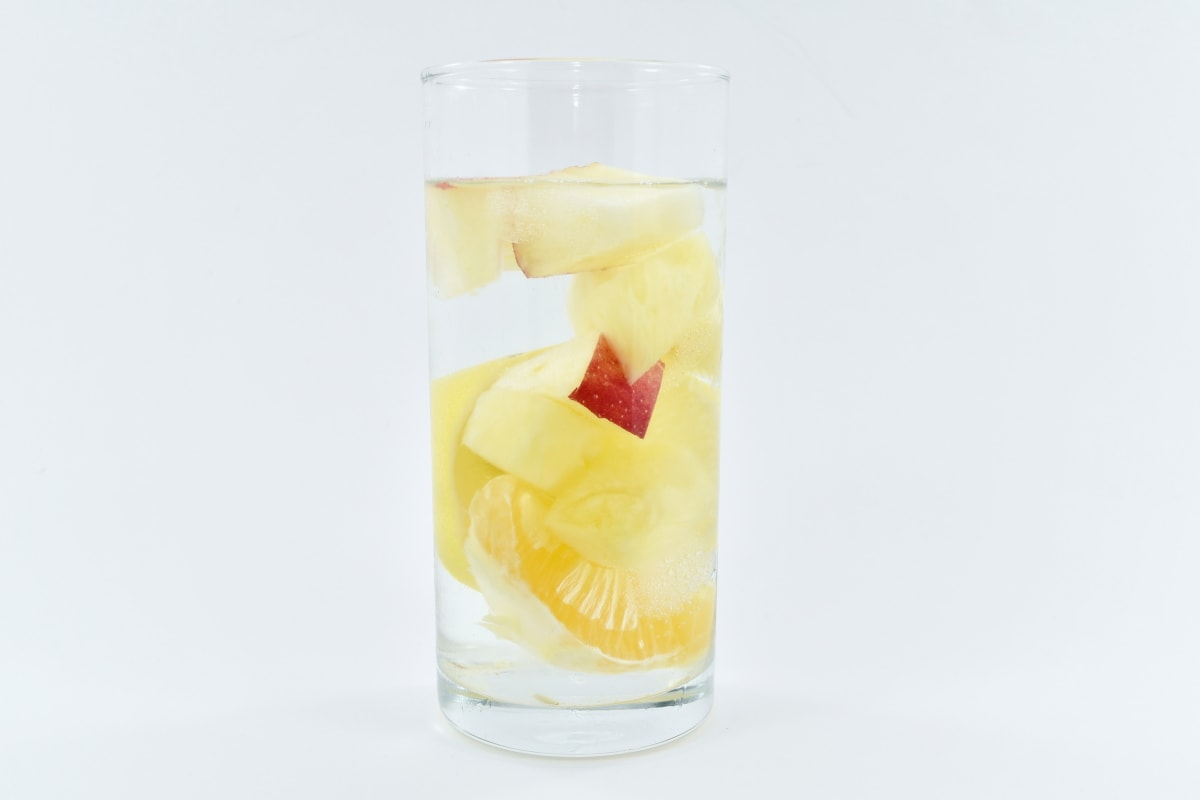 drinking water, fresh water, fruit juice, beverage, drink, glass, cold, liquid, juice, still life