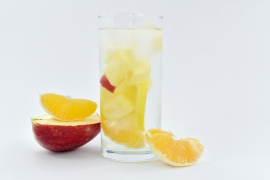 beverage, cold water, drinking water, fresh water, fruit juice, ice crystal, glass, cold, juice, drink