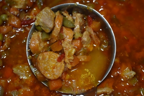 chili, delicious, lunch, pepperoni, sausage, stew, stew meat, vegetable, meat, meal