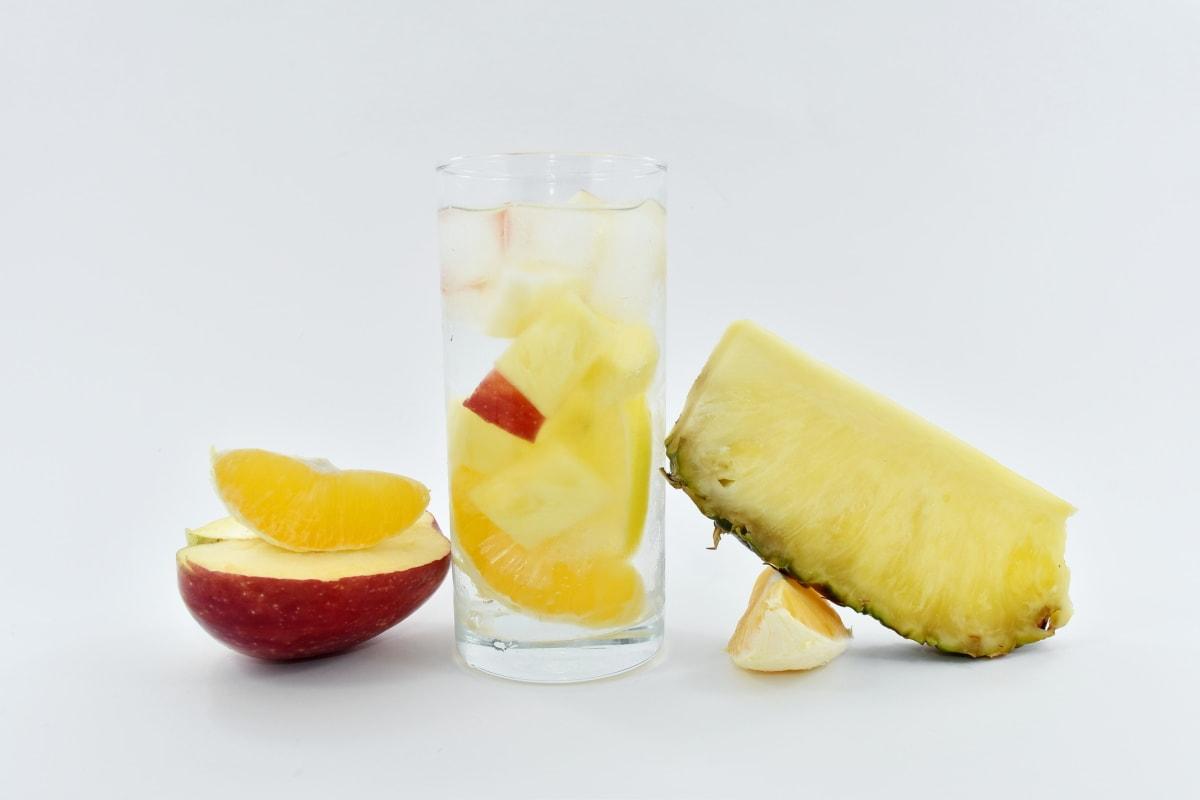 apple, drinking water, fresh water, fruit juice, fruit, food, still life, delicious, health, breakfast