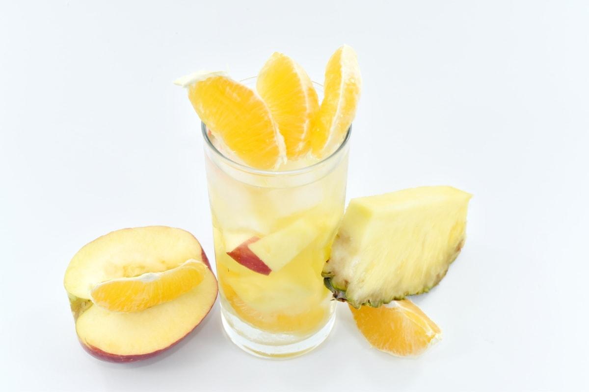 beverage, fresh water, fruit cocktail, mango, oranges, pineapple, citrus, food, fruit, orange