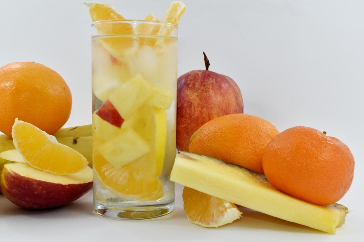 apple, cold water, fruit juice, grapefruit, ice crystal, mandarin, fruit, food, vitamin, juice