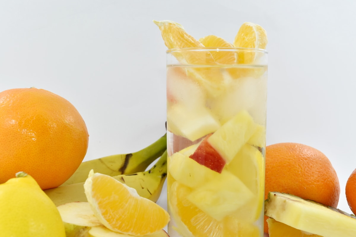 cold water, fruit juice, oranges, organic, pineapple, tropical, vegan, fruit, orange, lemon