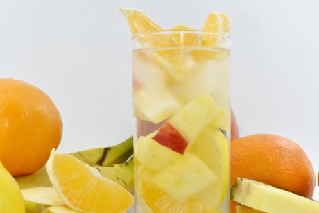 Beverage, cocktail de fruits, jus de fruits, pamplemousse, cristal de glace, Mangue, en bonne santé, agrumes, orange, jus de