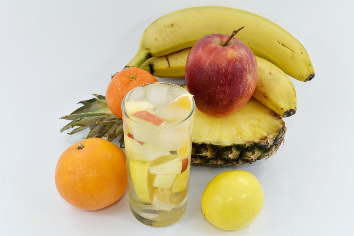 beverage, cold water, fruit juice, ice crystal, organic, pineapple, fruit, citrus, vitamin, fresh