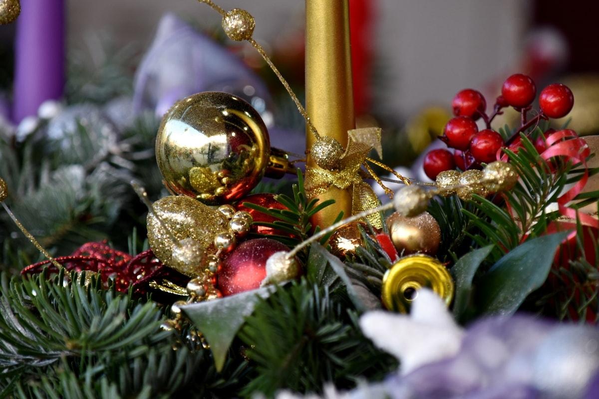 candle, decoration, golden shiner, handmade, holiday, ornament, christmas, celebration, interior design, shining
