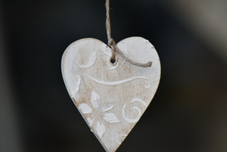 handmade, hanging, heart, love, rope, vintage, romance, adornment, decoration, jewelry