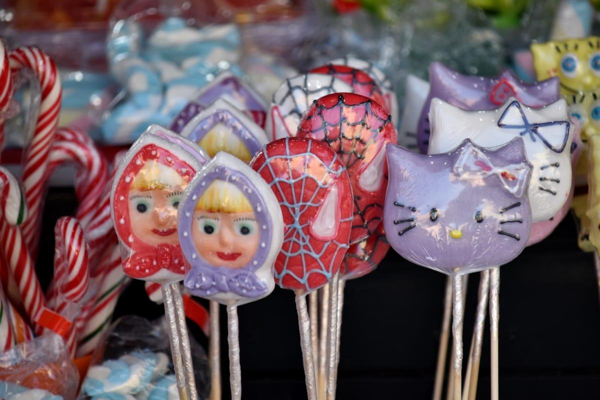 confectionery, delicious, lollipop, sticks, candy, sugar, traditional, handmade, bright, fun
