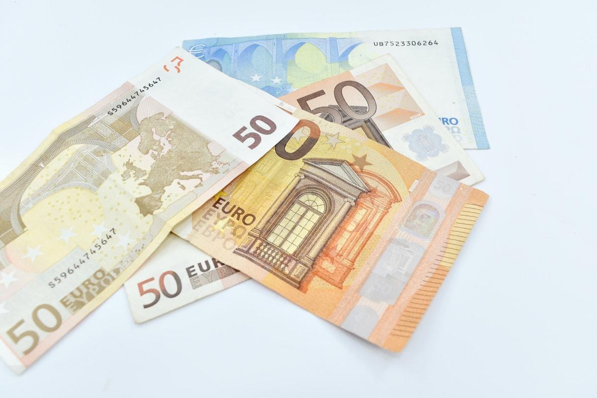 euro, European, paper money, twenty, money, business, finance, paper, bank, savings