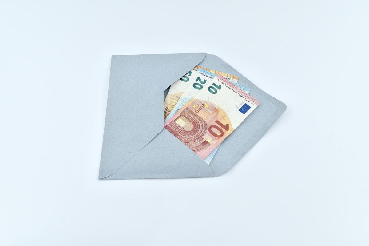 은행권, 현금, 봉투, 편지, 메일, 종이 돈, 올리기, 종이, 예술, 인터넷